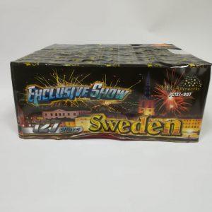 """Fejerverkas """"SWEDEN"""" 127 šūviai"""