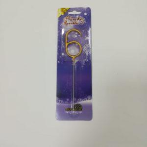 """Bengališka ugnelė skaičius """"6"""""""
