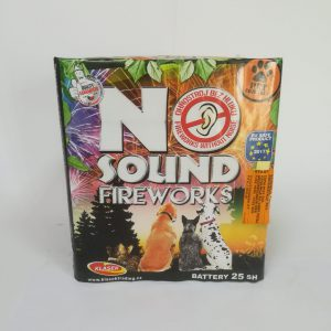 """Fejerverkas """"NO SOUND FIREWORKS"""" 25 šūvių baterija"""