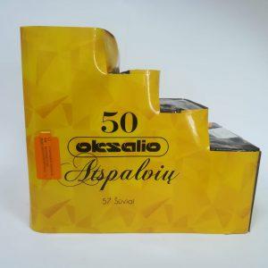 """Fejerverkas """"50 OKSALIO ATSPALVIŲ"""" 57 šūvių kryptinė baterija"""