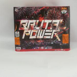"""Fejerverkas """"BRUTAL POWER"""" 36 šūvių  baterija"""