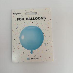 """Folinis balionas """"ŠVIESIAI MĖLYNAS  BURBULAS"""""""